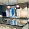 Köögisaar ja töötasapind graniidist Silver Pearl