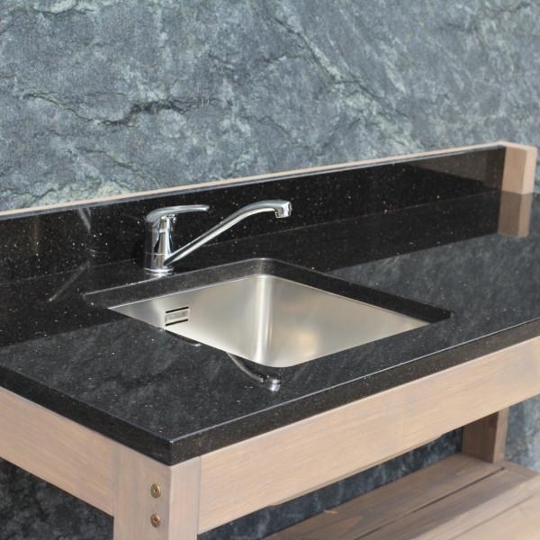 Outdoor kitchen made of granite Star Galaxy