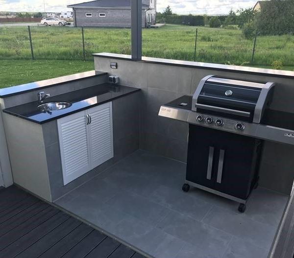 Outdoor kitchen made of granite Star Gate