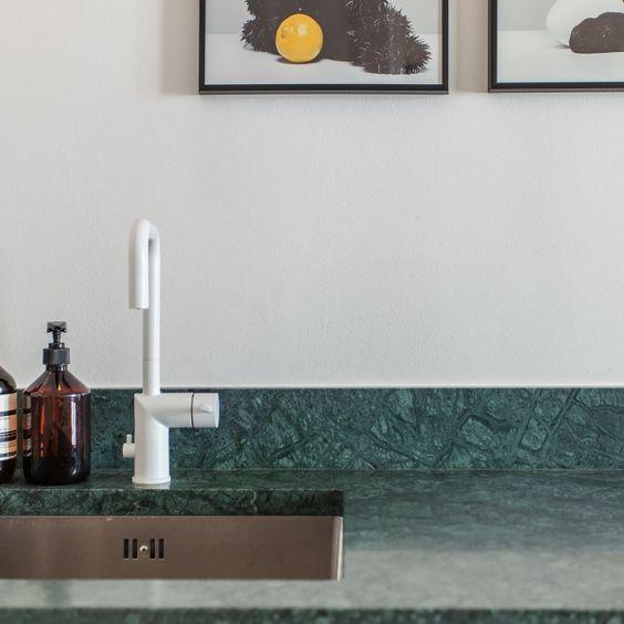 Köögi töötasapind rohelisest marmorist Verde Guatemala