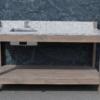 Outdoor kitchen made of granite Bianco Sardo