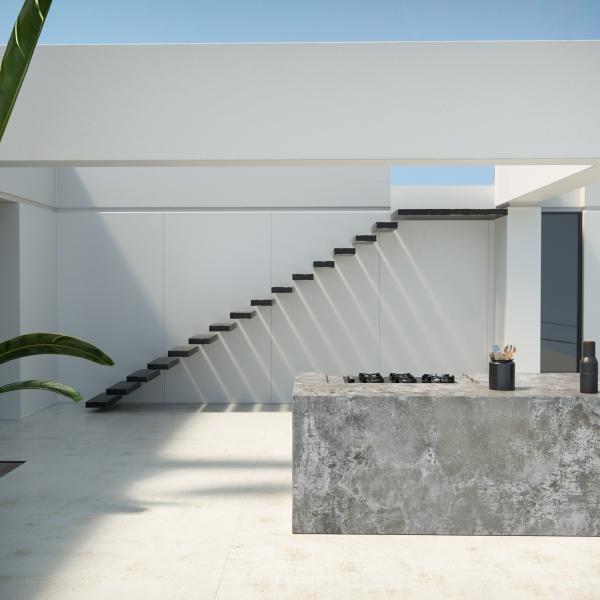 Dekton Nilium_floor_Dekton Orix_kitchen block