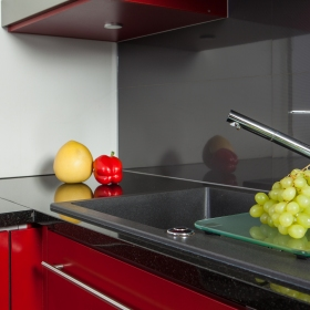 Spike Black Natural Stone for Kitchen