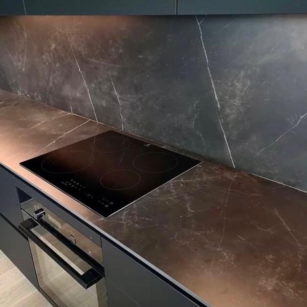 worksurface made ceramic material Storm Negro