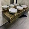 Graniittikivestä kivitaso kylpyhuoneeseen maritaca green