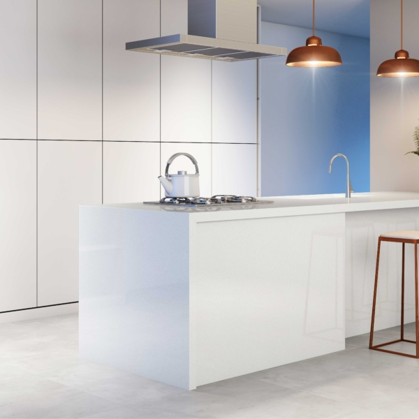 Köögisaar kvartsist White Quartz