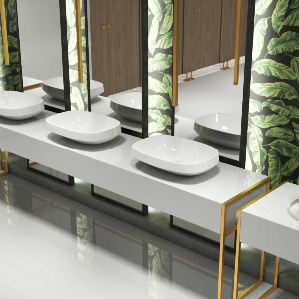 Kvartsist vannitoatasapind White Quartz