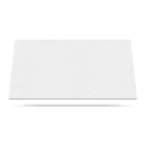 White Manna benkeplate i kvarts for kjøkken eller bad