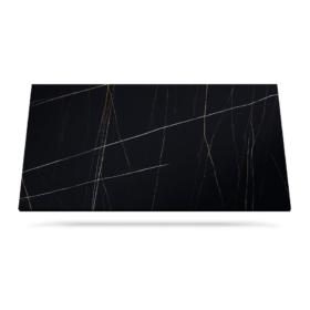Azalai Negro benkeplate svart keramikk hvite årer marmor