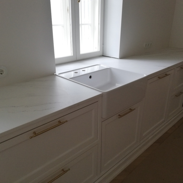 Kitchen worktop made of ceramic material Touche Blanco
