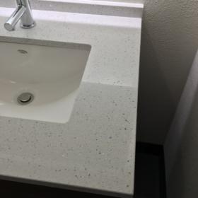 Bordplade lavet af kvarts White Mirror
