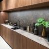 worktop and backsplash made of ceramic material Umbra Marron
