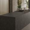 Kitchen island made of ceramic material Umbra Marron