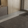Kitchen worktop and backsplash made of ceramic material Umbra Marron