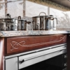 Blues wooden cabinets set for kitchen