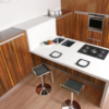 Concerto wooden cabinets set for kitchen