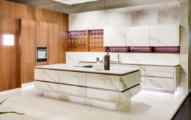 Cerama wooden cabinets set for kitchen