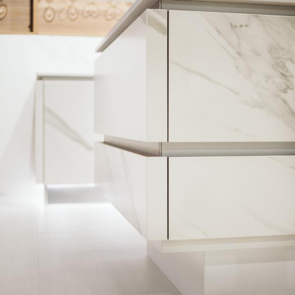 Cerama wooden cabinets set for kitchen