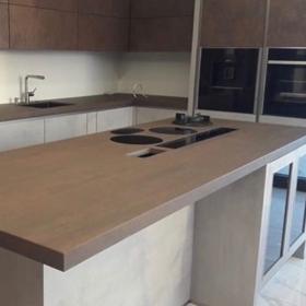 Kjøkken benkeplate og køkkenøy ramikk Iron Corten