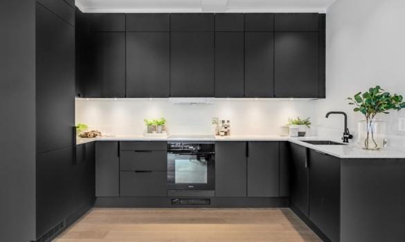 Kitchen made with White Quartz