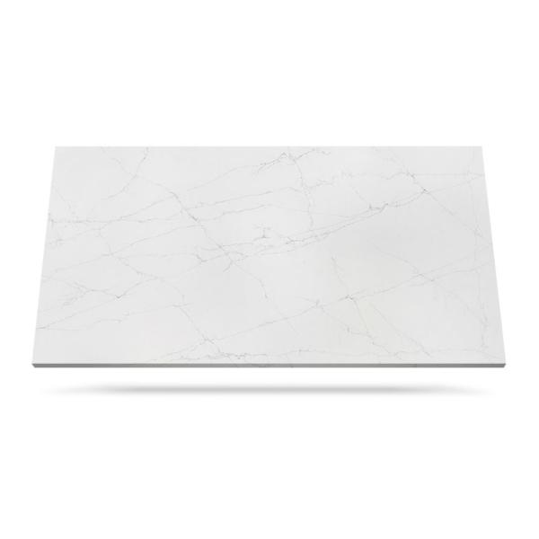 Lunar White hvit kompositt benkeplate