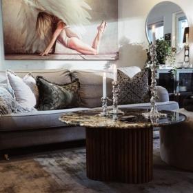 Sofabordplade lavet af granit Black Taurus