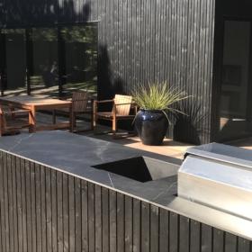 Bordplade af keramisk materiale Storm Negro