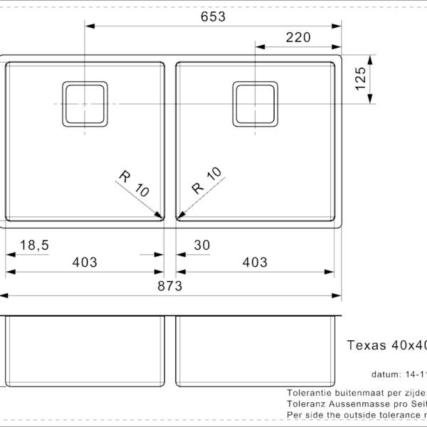 Vasker Texas 40x40+40x40 (L)
