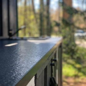 Outdoor kitchen worktop material granite Absolute Black