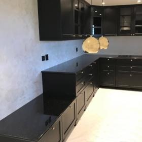 A kitchen countertop made of granite Star Galaxy