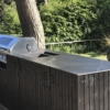 Outdoor kitchen worksurface made of ceramic material Storm Negro