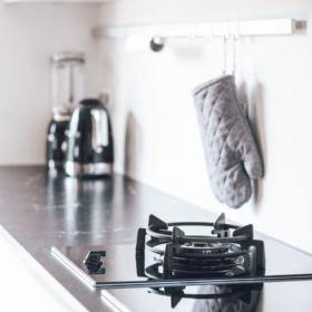 A kitchen countertop made of granite Via Lactea