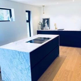 Köögisaar ja tasapind marmorist Carrara C