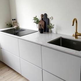 Köögi töötasapind kvartsist Carrara Quartz