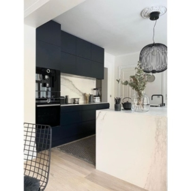 Tasapind ja köögisaar keraamikast Larsen Blanco